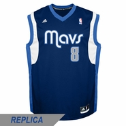 Dallas Mavericks adidas Revolution 30 Jose Calderon Replica Alternate Jersey - Navy