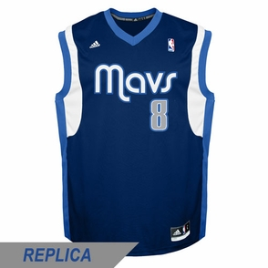 Dallas Mavericks adidas Revolution 30 Jose Calderon Replica Alternate Jersey - Navy - Click to enlarge