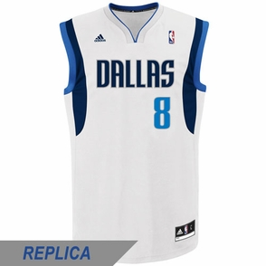 Dallas Mavericks adidas Revolution 30 Jose Calderon Replica Home Jersey - White - Click to enlarge