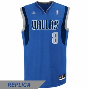Dallas Mavericks adidas Revolution 30 Jose Calderon Replica Road Jersey - Royal - Click to enlarge