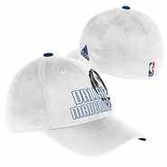 Dallas Mavericks adidas Structured Flex Cap - White