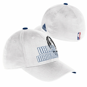 Dallas Mavericks adidas Structured Flex Cap - White - Click to enlarge
