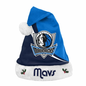 Dallas Mavericks Team Beans Color & Logo Santa Hat - Blue - Click to enlarge