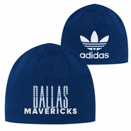 Dallas Mavericks adidas Trefoil Knit Skully Hat - Navy