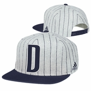 Dallas Mavericks adidas Vintage 'D' Pinstripe Snapback Cap - Grey/Navy