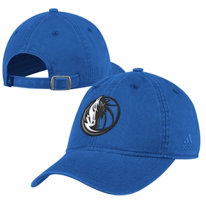 Dallas Mavericks adidas Washed Slouch Cap - Blue - Click to enlarge