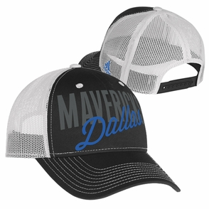 Dallas Mavericks adidas Women's Mesh Trucker Cap - Black/White - Click to enlarge
