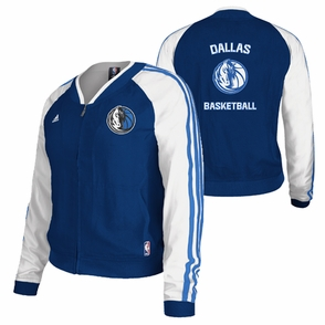Dallas Mavericks adidas Women's On-Court Jacket - Navy/White - Click to enlarge