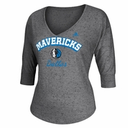 Dallas Mavericks adidas Women's Sparkle Long Sleeve Triblend Top - Grey