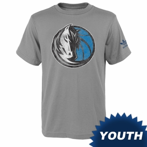Dallas Mavericks adidas Youth Big Better Logo Triblend Tee - Grey - Click to enlarge