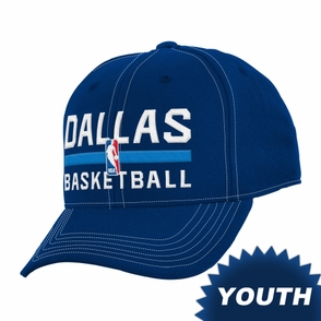 Dallas Mavericks adidas Youth Practice Graphic Cap - Blue - Click to enlarge