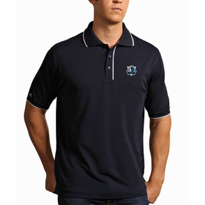 Dallas Mavericks Antigua Men's Elite Short Sleeve Polo Shirt - Navy - Click to enlarge