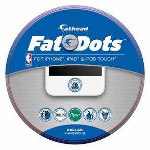 Dallas Mavericks Fathead Phone Button Fat Dots Decal Set - Click to enlarge