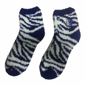 Dallas Mavericks Sleep Soft Zebra Stripe Socks - Blue/White - Click to enlarge