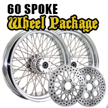 1984 - 1999 FLST 16 x 3.5 60 Spoke Wheel Package - click to enlarge