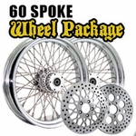 1984 - 1999 Softail 16 x 3.5 60 Spoke Wheel Package