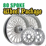 1984 - 1999 Softail 16 x 3.5 80 Spoke Wheel Package