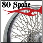80 Spoke Wheels -  Rear