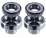 Head Cups With Races And Bearings For Big Twin - Chrome Plated Head Cups With Races & Bearings