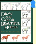 Draw & Color Beautiful Horses