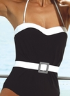 Belted Bandeau One Piece Swimsuit