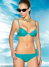 Teal and Gold Push Up Bikini