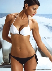Yacht Style Two Piece Push Up Swimsuit