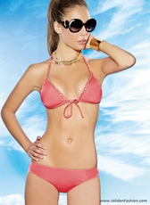 Coral Chained Two Piece Swimsuit