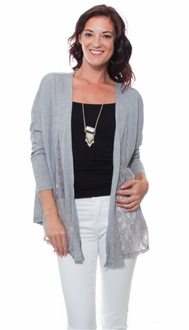 Back to School Gray Cardigan