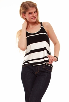 Braided Strap Striped Tank