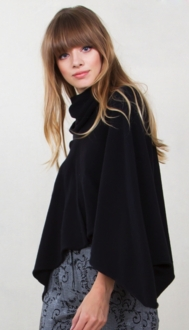 Cape It Coming Poncho - Black*