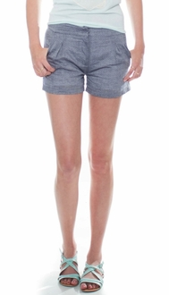 Chambray Dots Tailored Shorts
