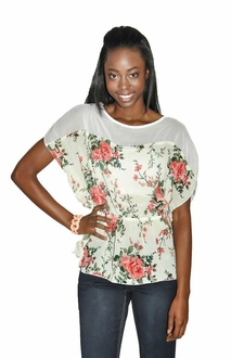 Coming up Roses Peplum Blouse