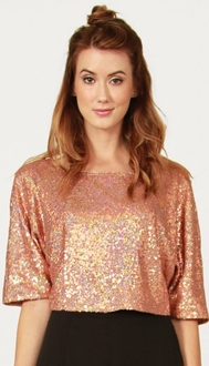 Copper Sequin Top *