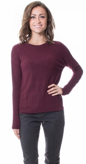Crew Neck Sweater - Burgundy