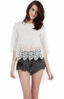 Delicate Crochet Top*