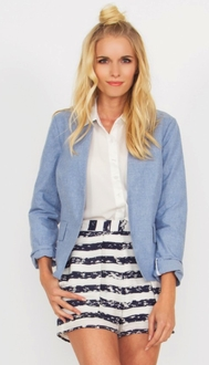 Denim Down Blazer*