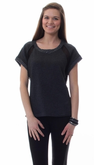French Terry Paneled Top