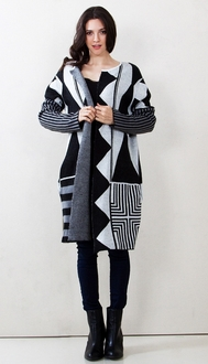 Graphic Content Cardigan Sweater