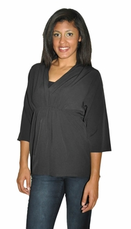 High Collar Work & Play Blouse - Black