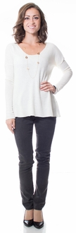 Ivory Boulc� Soft Knit Sweater