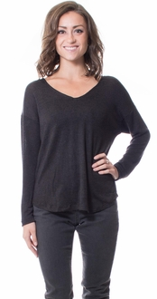 Knit Long Sleeve Sweater - Black