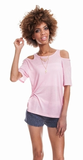 Light Pink Cut-Out Top