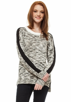 Marbled Racing Stripe Sweater