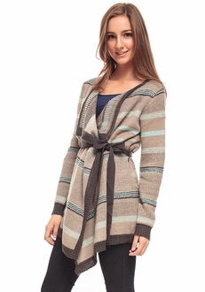 Navajo Print Wrap Sweater