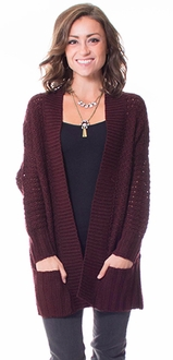 Open Knit Chunky Cardigan