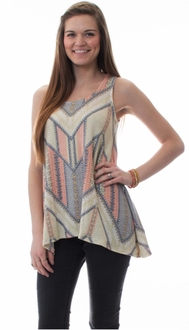 Pastel Knit Sleeveless Tunic