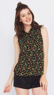 Pineapple Express Button Down Top*