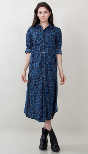 Plaid Habits Shirt Dress