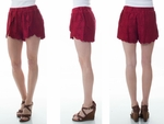 Red Wine Lace Shorts